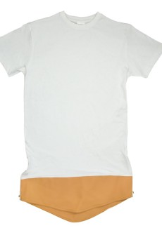 Brown On Oversize TEE White