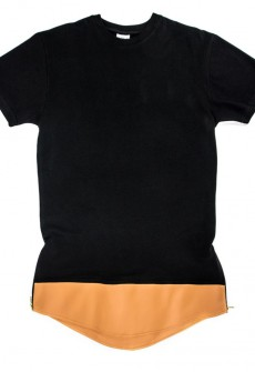 Brown on Oversize TEE Black