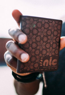 LIVE A LIFE WALLET BROWN